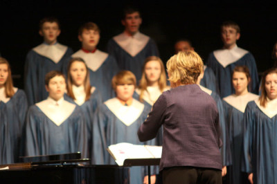 Choirs perform in preparation for competition