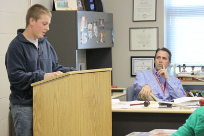 Sophomore social studies class performs mock trial