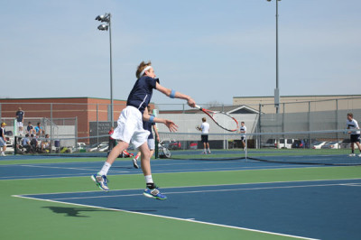 Varsity tennis team wins three matches