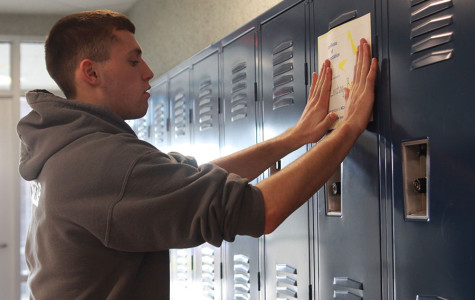 NHS decorates students lockers
