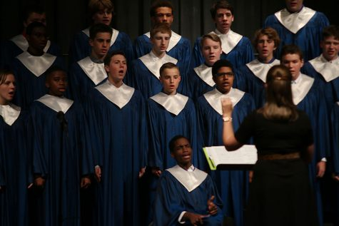 Choir performs at first concert