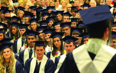 Graduation ceremony moves outdoors