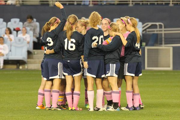 Soccer team plays district rival at Livestrong Stadium for charity