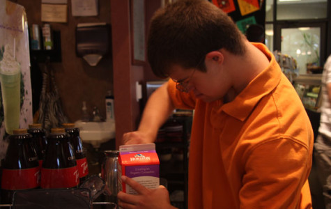 Senior Tyler Dubas works at Country Club Cafe