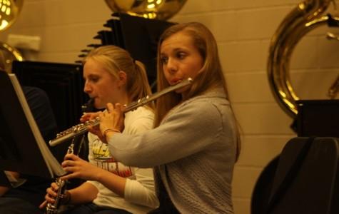 "Band students prepare for ""A Christmas Carol"""
