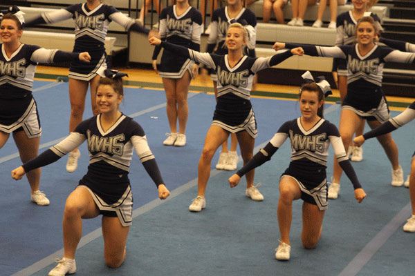 Cheer squad receives a two at competition