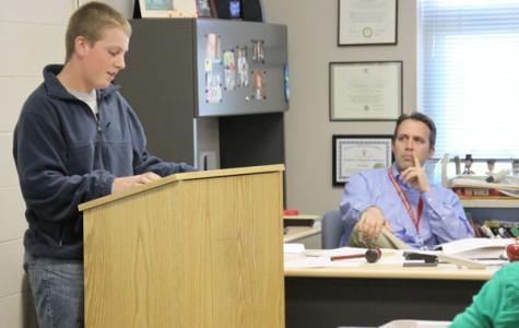 Sophomore social studies class performs mock trial