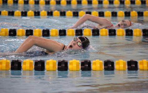Inaugural girls swim team works to improve abilities