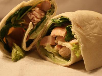Energy boost: chicken caesar wrap