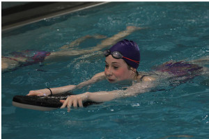Freshman makes finals in state swimming meet