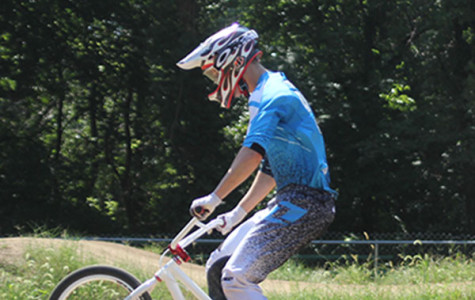 Senior participates in national BMX competitions