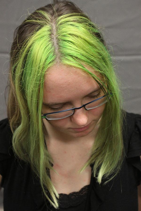 Junior+Hayley+Dozier+recently+dyed+her+hair+bright+green.