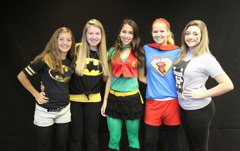 A look at Monday's super hero spirit wear participants.
