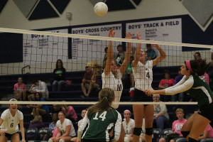 Jaguar volleyball team wins Dig Pink match against De Soto High School