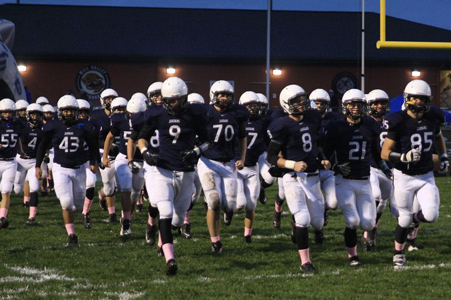 The+football+team+defeated+Schlagle+High+School+to+remain+undefeated+on+Friday%2C+Oct.+18.
