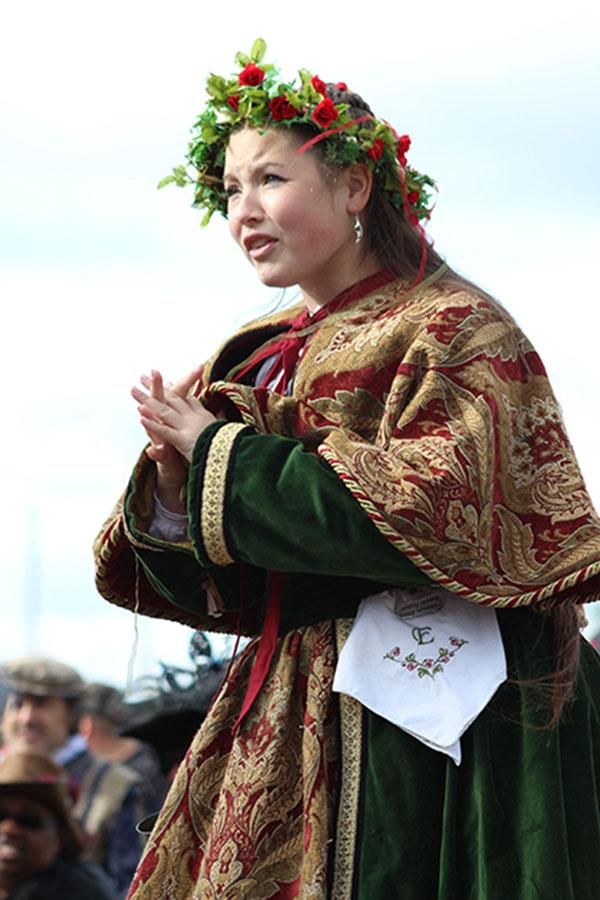Samantha Meyers plays her role at the opening of the Renaissance Festival on Sunday, Oct. 6.
