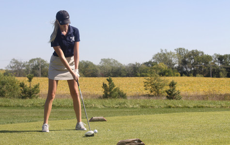 The girls golf team traveled to Falcon Lakes golf course on Thursday, Oct. 10.