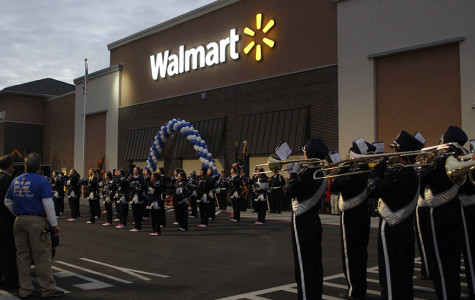 Band plays for opening of new Wal-Mart