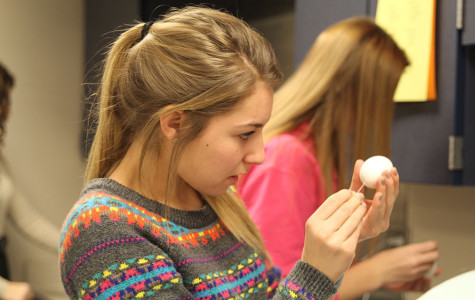 Family studies students create egg babies