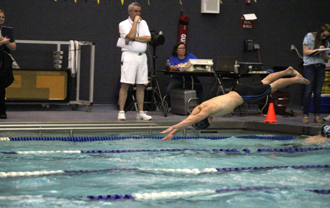 Boys swimming places third at Olathe South meet