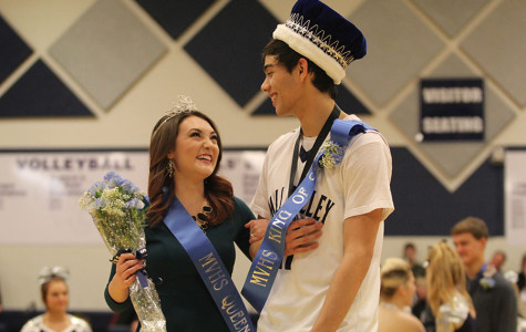 Senior Olivia Phillips and senior Drew Boatwright were crowned winter homecoming king and queen at halftime of the boys' basketball game on Friday, Jan. 17.