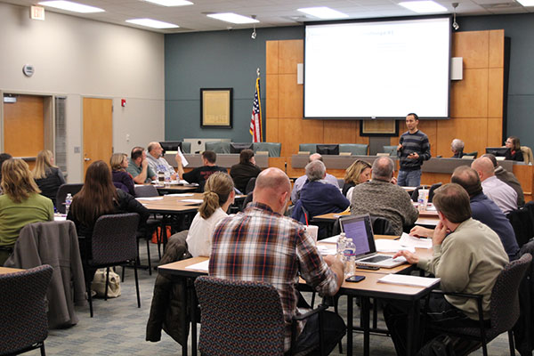 Boundary committee members listen to proposals Thursday, Jan. 16.