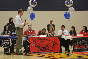 Athletes sign letters of intent in group signing ceremony