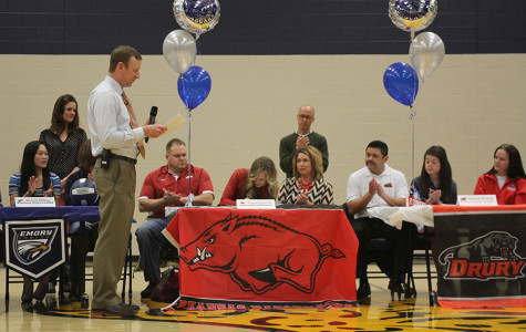 Senior Abigail Sieperda signs with University of Arkansas to play soccer on Friday, Feb. 7.
