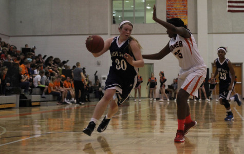 The girls basketball team defeated the Bonner Springs Braves 43-34 on Tuesday, Feb. 18.