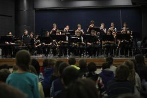 Jazz Band teaches elementary students through performance