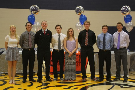 Eight athletes sign letters of intent on Wednesday, April 30