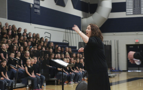 Choir students from all elementary schools in the De Soto district performed with their choir instructors in the annual 2014 Elementary Choral Festival on April 10 in Mill Valley's main gym.