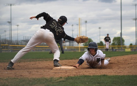 The baseball teams sweeps the Turner Bears in a double header, 13-3, 18-3, on Thursday, May 1.