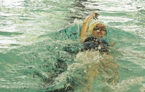 Girls swim places second at last regular season meet