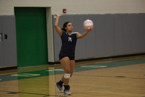 Volleyball falls to De Soto in three sets at Dig Pink game