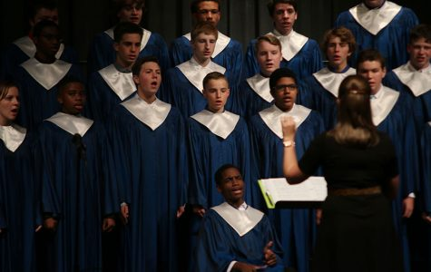 Choir performs at first concert