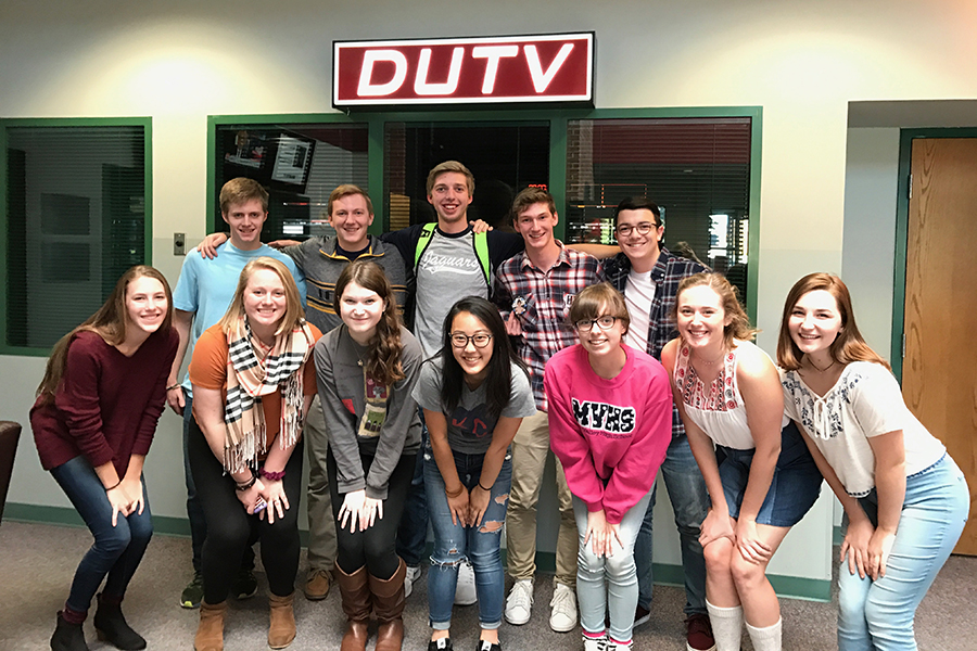 Broadcast students pose for a picture while attending DUTV's VidCom in Springfield, MO on Nov. 4-5.