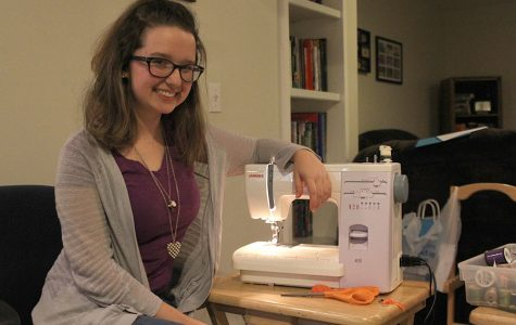Senior Melissa Kelley discovers a hobby for sewing and designing clothes