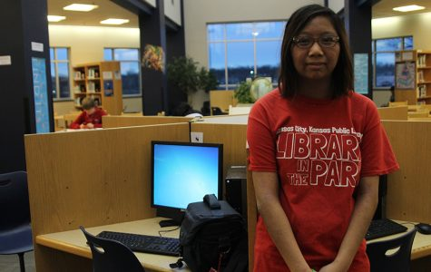 Sophomore Gi-gi Lin spends free time in the library