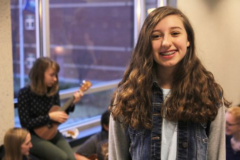 Sophomore Jessie Coleman appreciates the Upper C locker banks