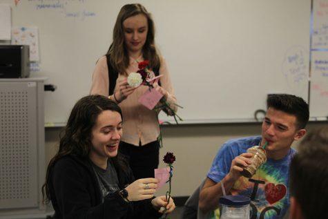 NEHS holds Valentine's Day carnation sale
