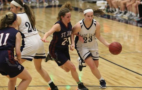 Girls basketball falls to St. James at home