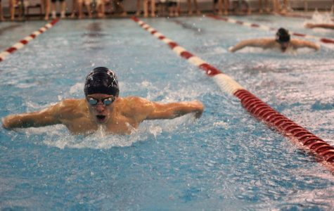 Boys swim finishes second at Lansing meet