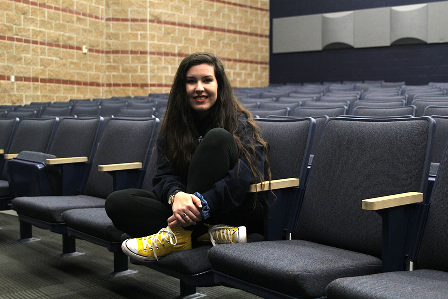 """Junior Lauryn Hurley has participated in multiple shows with the Mill Valley theater department.  """"My favorite experience was """"Hello, Dolly!"""" at Mill Valley this last year because I had the lead and because all of my friends were really involved."""""""
