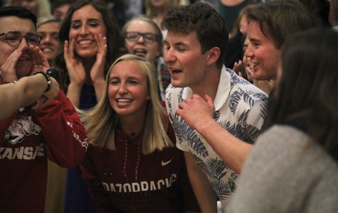 Spring pep assembly focuses on athletic achievement and prom introductions