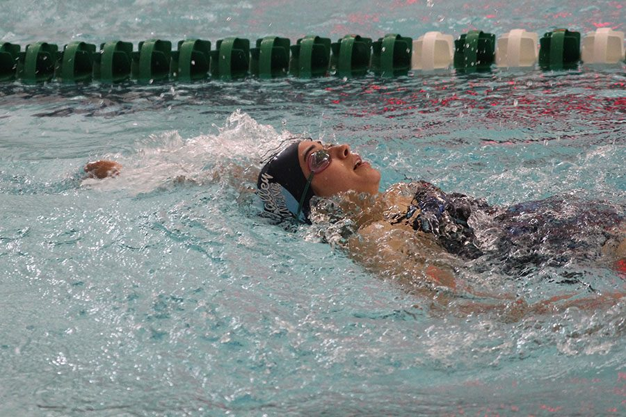 Girls swim places fourth at BVSW invitational