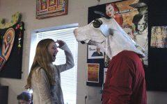Drama teacher Jon Copeland's room encourages creativity, creates home away from home for senior Diana Auckly