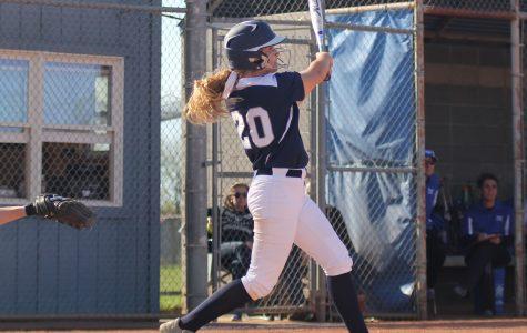 Sophmore Haley Puccio hits the ball. P