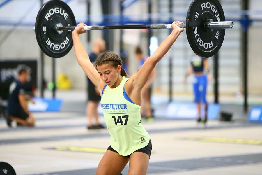 At the Reebok CrossFit Games in Madison, Wisconsin on Aug. 3 through 6, sophomore Ellie Kerstetter competes in the double-under snatch.