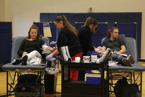 Students and staff participate in biannual blood drive